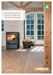 Wood burning stoves with very simple use and clean combustion