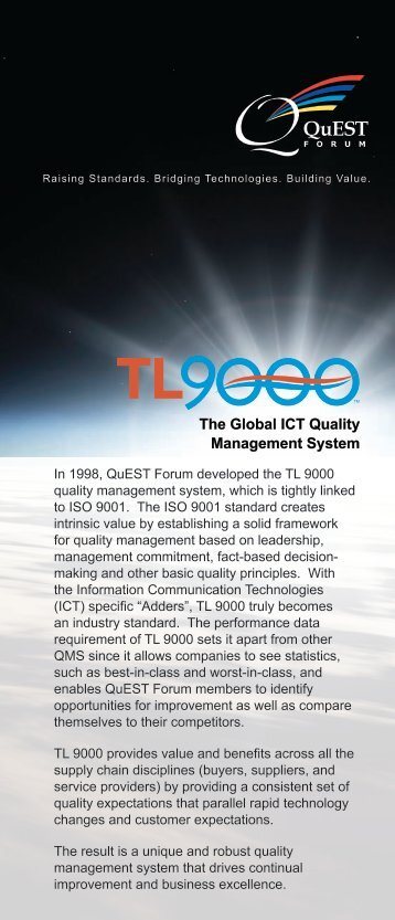 The Global ICT Quality Management System - QuEST