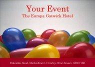 Events Brochure - Britannia Hotels