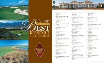 Golfweek's Best Resort Courses List 2007