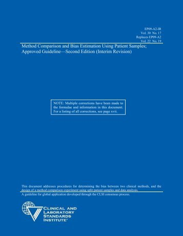 Method Comparison and Bias Estimation Using Patient ... - NetSuite
