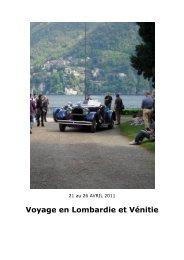 Voyage en Lombardie et Vénitie - Notre 350Z