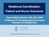 Patient and Nurse Outcomes - Relational Coordination Research ...