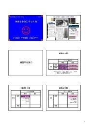 スライドイメージのプリントはこち ら - 大阪医科大学