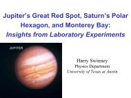 Jupiter's Great Red Spot, Saturn's Polar Hexagon, and Monterey Bay
