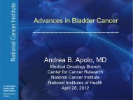 Andrea B. Apolo, MD Advances in Bladder Cancer
