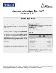 Management Aptitude Test (MAT) - PT education