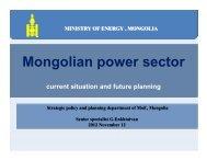 [Session 1] 3. Mr. Enkhtaivan Gundsamba - Mongolian power sector