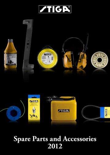 Spare Parts and Accessories 2012 - Stiga