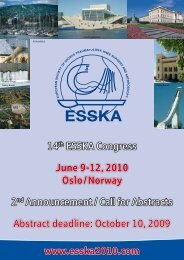 2nd announcement for the ESSKA 2010 - Oslo Sports Trauma