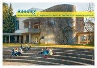 Flyer zu Ausstellung und Rahmenprogramm