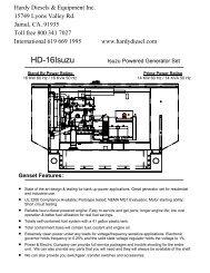 to view Isuzu 16kW Diesel Generator Spec Sheet - Hardy Diesels ...