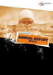 annUal RepoRt - Swimming WA Results - Swimming Australia