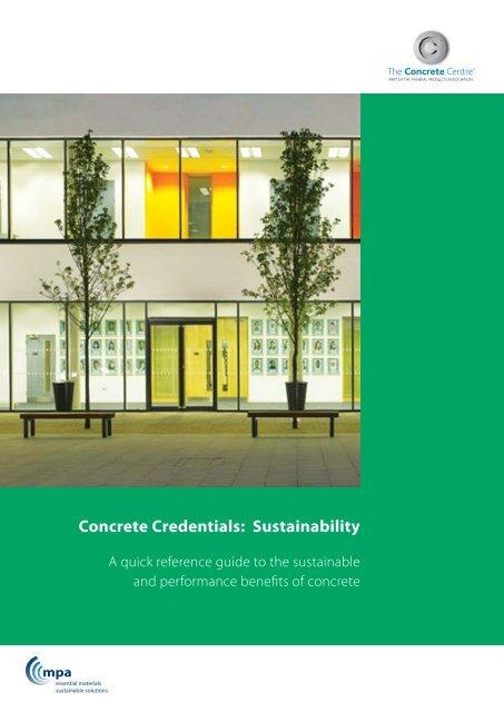 Concrete Credentials: Sustainability