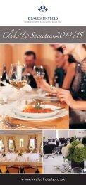 Clubs & Societies brochure - Beales Hotels