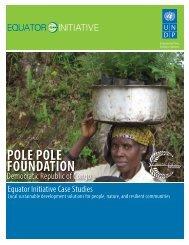 Pole Pole Foundation, Democratic Republic of ... - Equator Initiative