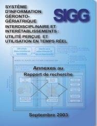 Annexes du rapport SIGG - Prisma