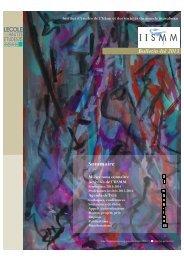 Bulletin IISMM n° 63 - Juillet 2013 - EHESS