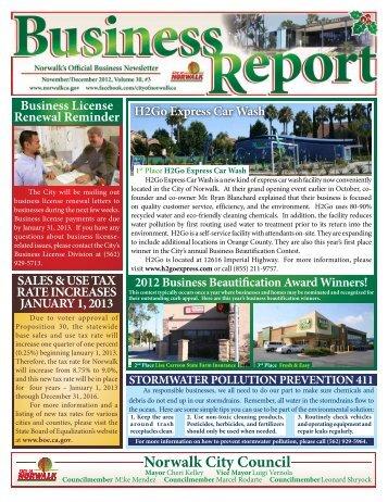 Business License Renewal Reminder SALES ... - City of Norwalk