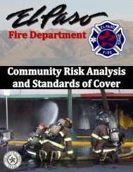 Community Risk Analysis & Standards of Cover - City of El Paso