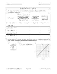 Lesson 3a – Practice Problems - Scottsdale Community College ...