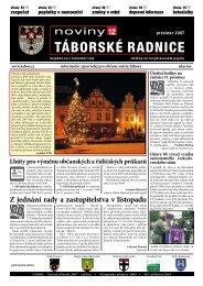Noviny Táborské Radnice 2007 - prosinec