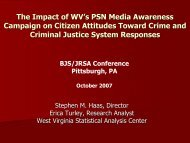The Impact of WV's PSN Media Awareness Campaign on Citizen ...