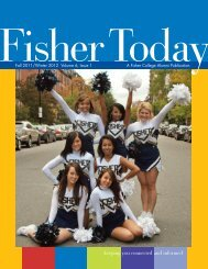 Fall/Winter 2011 - Fisher College