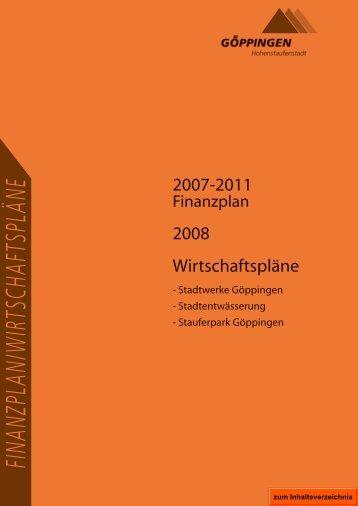 2007-2011 2008 Wirtschaftspläne