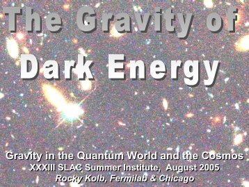 Gravity in the Quantum World and the Cosmos Gravity in the ...
