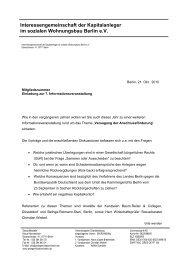 Interessengemeinschaft der Kapitalanleger im sozialen ...