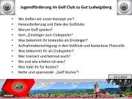 Warum Golf spielen? - Golfclub Gut Ludwigsberg