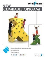 CLIMBABLE ORIGAMI - Entre Prises Climbing Walls