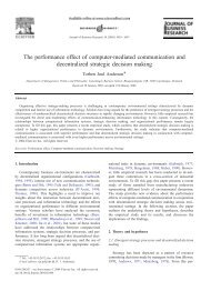 The performance effect of computer-mediated communication and ...