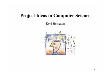 Project Ideas in Computer Science