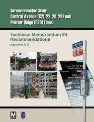 Recommendations - Metrobus Studies