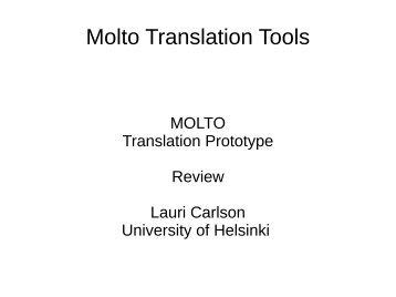Molto Translation Tools