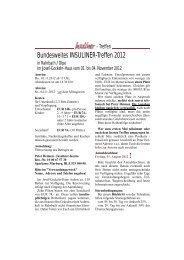 Bundesweites Insuliner-Treffen 2012