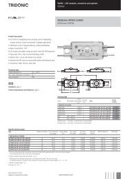 U -; LED modules, converters and systems SIGNAGE Uchain ...