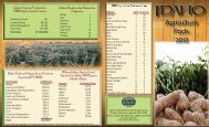 2012 Ag Stat Brochure2.indd - Idaho Department of Agriculture
