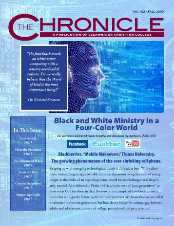 Black and White Ministry in a Four-Color World - Clearwater ...