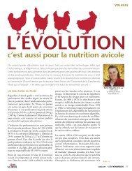 L'ÉVOLUTION c'est aussi pour la nutrition avicole - Agri-Marché