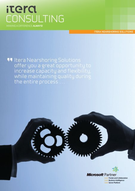 Itera Nearshoring Solutions offer you a great ... - Itera Consulting