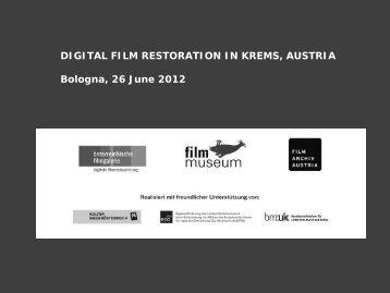 DIGITAL FILM RESTORATION IN KREMS ... - Europa Cinemas