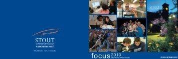 FOCUS 2010 Publication - University of Wisconsin-Stout