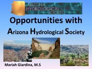 HERE - Arizona Hydrological Society
