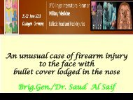 An unusual case of firearm injury to the face with bullet cover ... - Bsbb