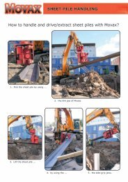 SHEET PILE HANDLING How to handle and drive/extract ... - Movax