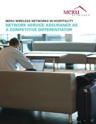 MERU WiRElESS NETWORKS iN HOSpiTAliTY ... - Wavelink