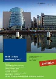 German Fund Tax Law Conference 2010 Invitation - WM Seminare